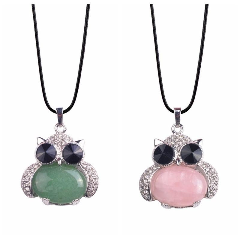 e0d79bf523e7a Women Fashion Crystal Rhinestone Owl Pendant Necklace Gift