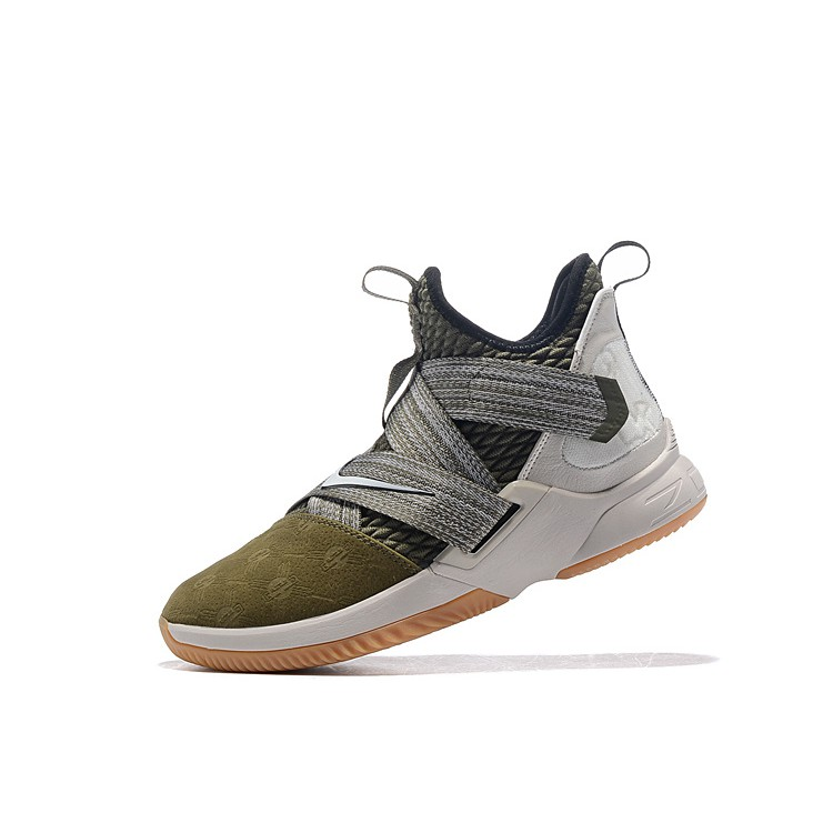 brand new ca18c 185ca LeBron James Soldier 12 LBJ Nike Basketball Shoes Army Green