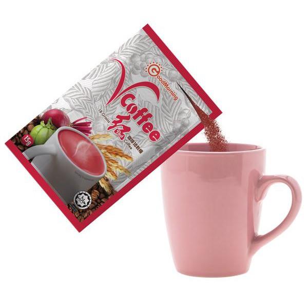 Good Morning VGrains Sachet 12s + Vcoffee Fat Burning Coffee 15s