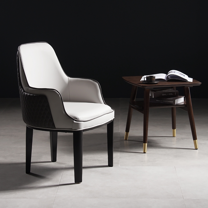 Fabulous Nordic Minimalist Leather Dining Chair Household Light Download Free Architecture Designs Scobabritishbridgeorg