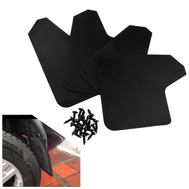 Set Universal Mudflaps Mud Flaps Flap Splash Guards Mudguards Car Auto Van SUV Trucks Sedan Wheel Fender Front Rear