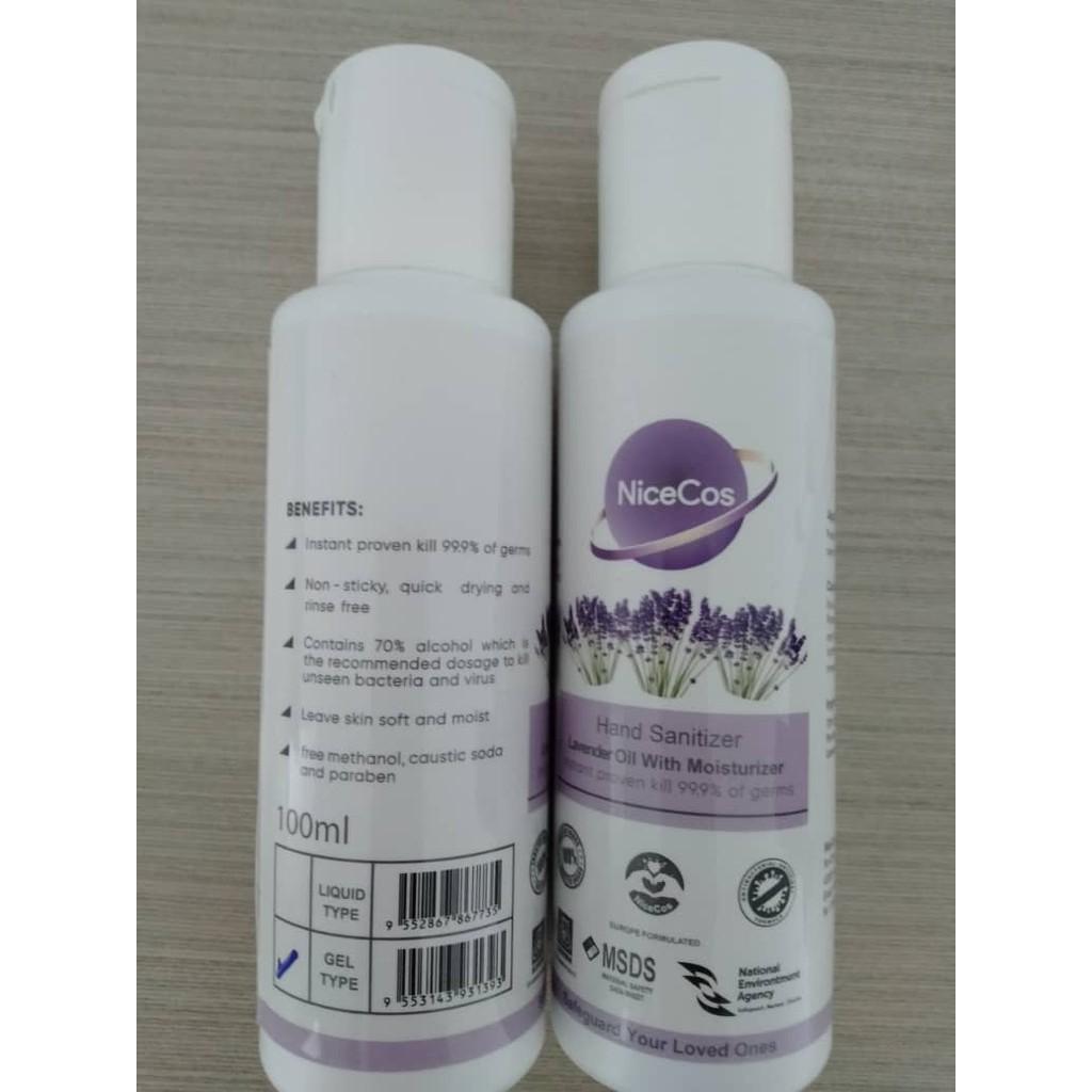Hand Sanitizer 50/100 ml Alcohol 70% NiceCos