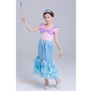 Children S Clothes Mermaid Princess Dress Girls Short Sleeve Halloween Costumes