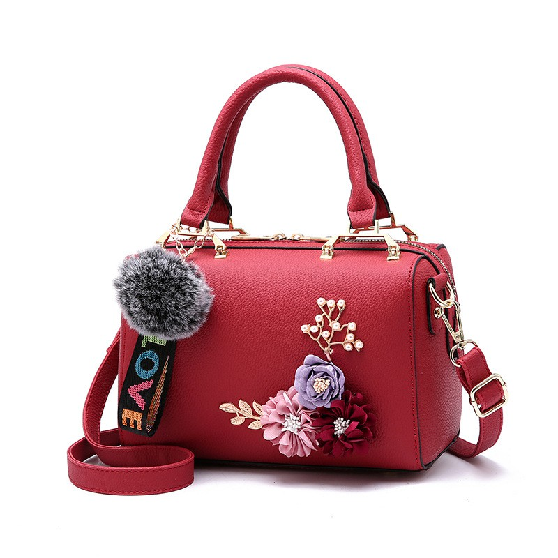 8 Colors Women PU Leather Fragrant Wind Retro Square Bag Sling Handbags Flower | Shopee Malaysia