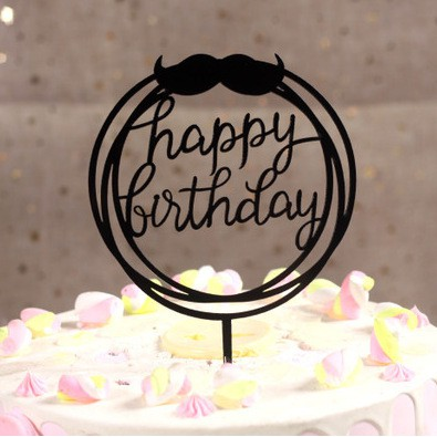 Magnificent Ready Stock Happy Birthday Cake Topper For Him Father With Funny Birthday Cards Online Necthendildamsfinfo