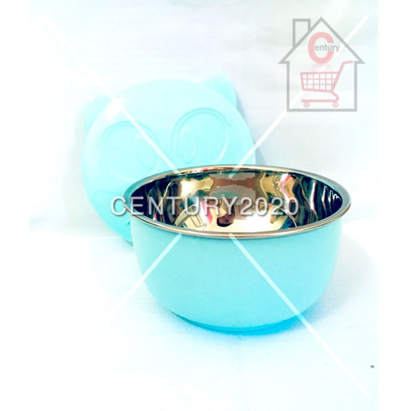 RIMEI Children Kids Bowl Cartoon Bowl Stainless Steel Bowl Kids Bowl Round Design With Cover