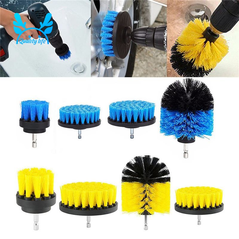 Kitchen Auto,Boat Replace Brush Clean Tool,Yellow Grout Shower Power Drill Brush All Purpose Drill Scrub Brush for Bathroom Surface Tub