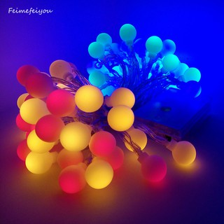 8m 80 Led Battery Operated Outdoor Ball String Light For Christmas