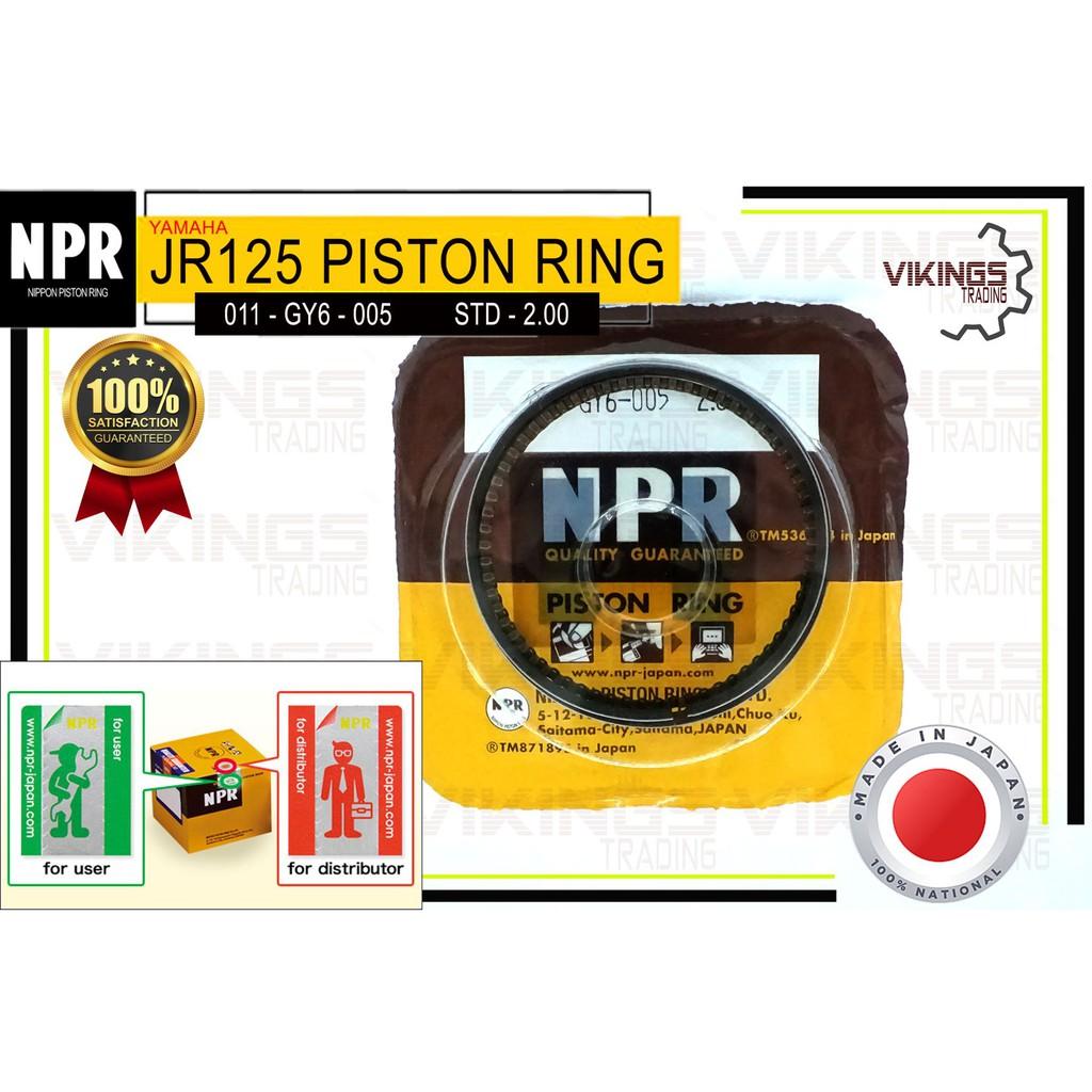 JR125 JAPAN NPR RING SET STD-2.00