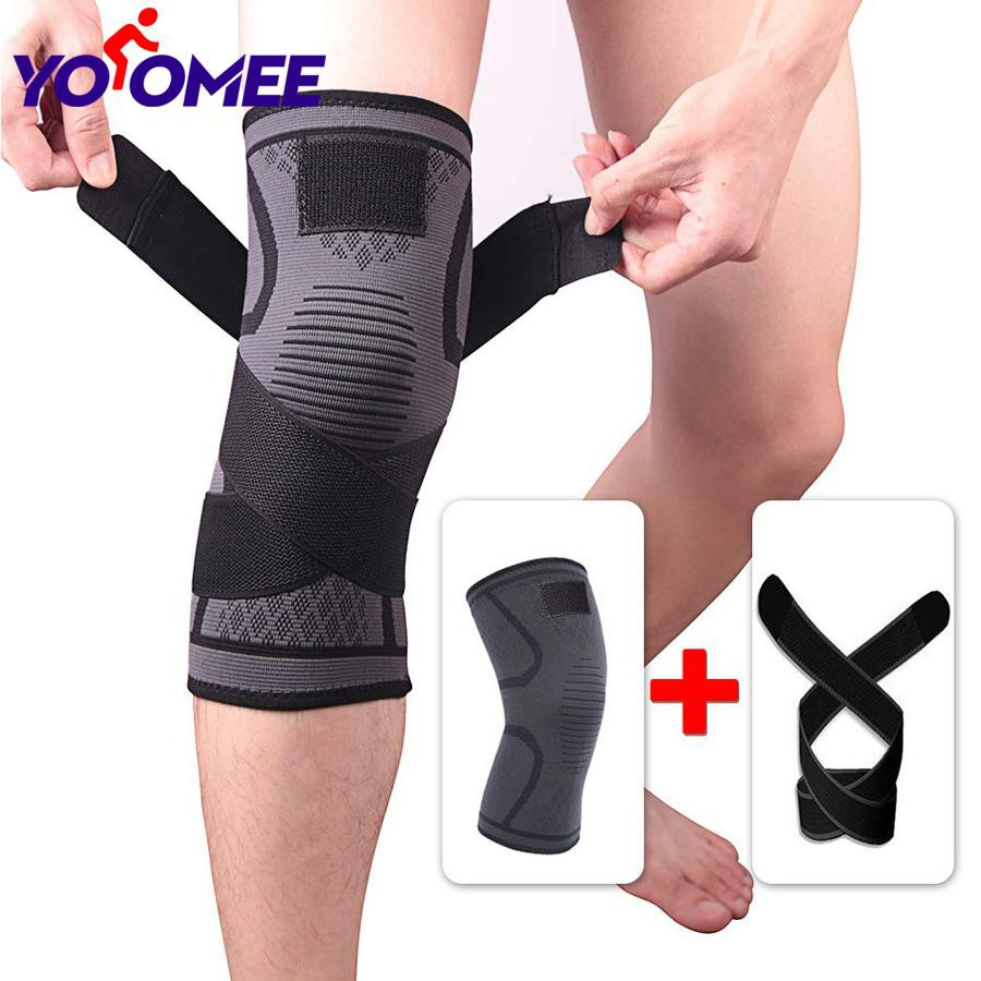 Knee Support Compression Sleeve Knee Pad, Arthritis Wrap Pad, ACL, Running, Pain Relief, Injury Recovery, Basketball etc