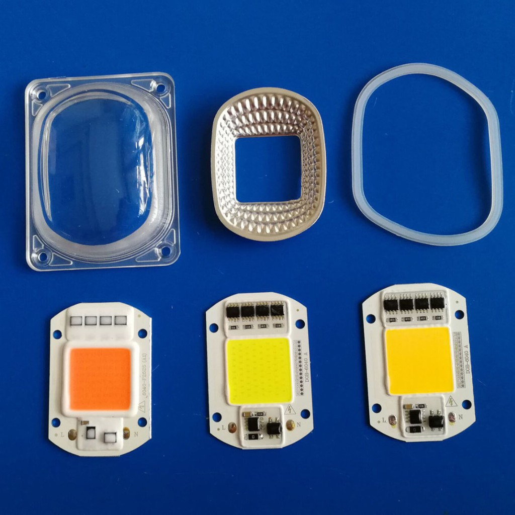 1set LED COB Chip Lens Reflector 110V 220V 20W 30W 50W F LED Flood Light