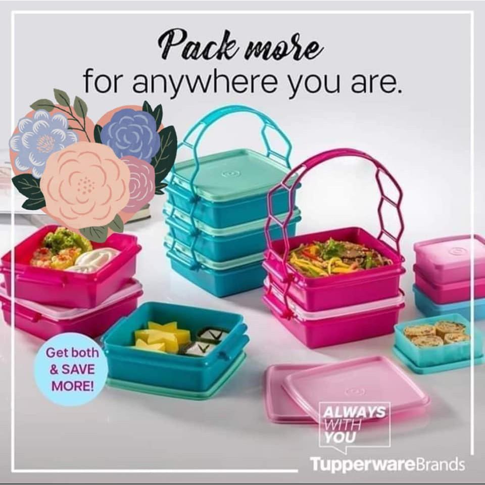 Tupperware Goody Lunch Box 1X470ml (Random Colour Sent) (No Handle)