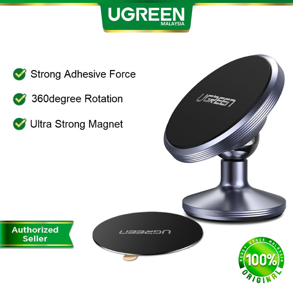 UGREEN Magnetic Car Phone Holder and Ring Stand for iPhone Realme Huawei Samsung 360 Degree Magnet Mount Car Holder