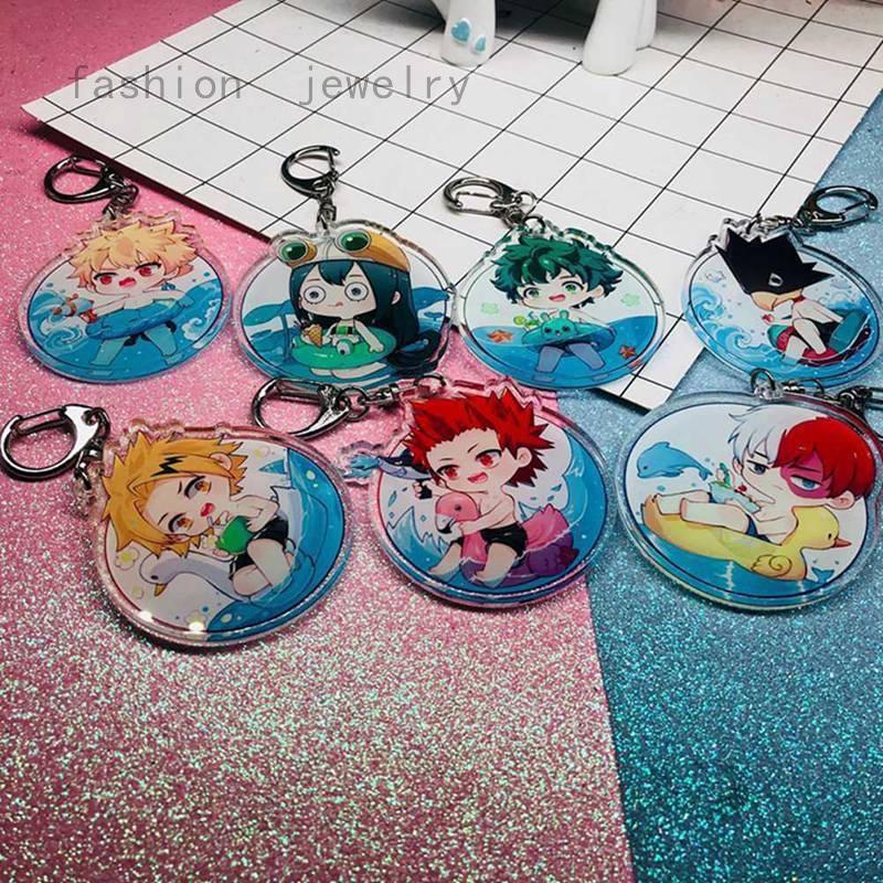 My Hero Academia Acrylic Keychain Anime No Hero Academia Double-sided  Keyring