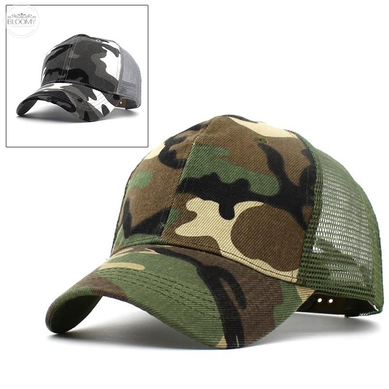 d1b5347f356 Mens Army Plain Hat Sunshade Military Mesh Back Cadet Outdoors Baseball  Flat Cap