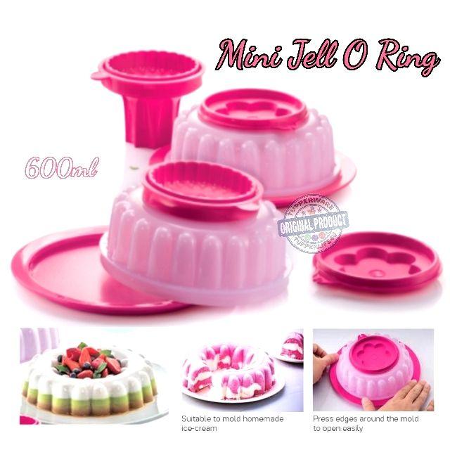 "💥Ready Stock💥Tupperware Dessert Mini Jell O Ring Gelatin 6"" Fluted Mold600ml - Pink Punch"