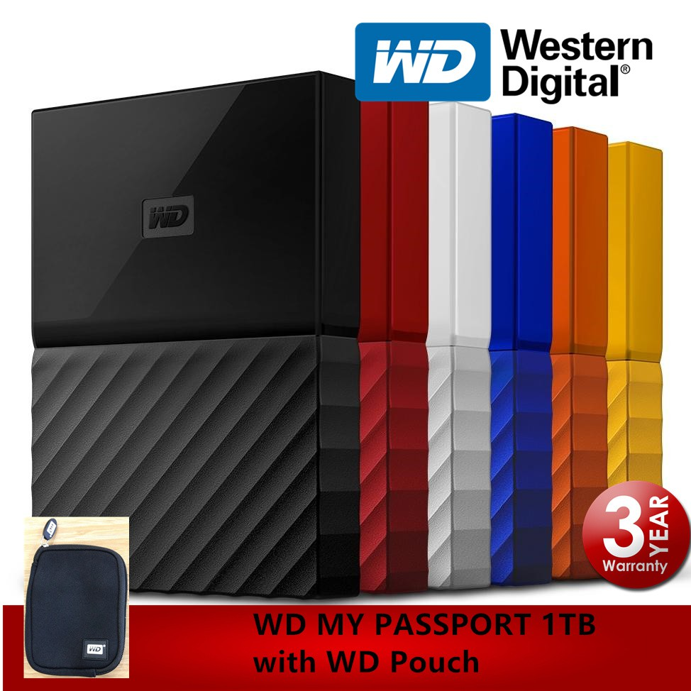 WD My Passport 1TB Hard Drive External Portable HDD (Original Western  Digital)