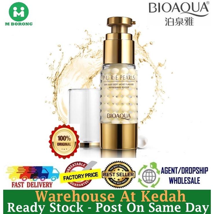 BIOAQUA 【100%Original】PURE PEARLS Skin Silky Soft Moist Flawless Refreshing  Tender Eye Cream 4600BA