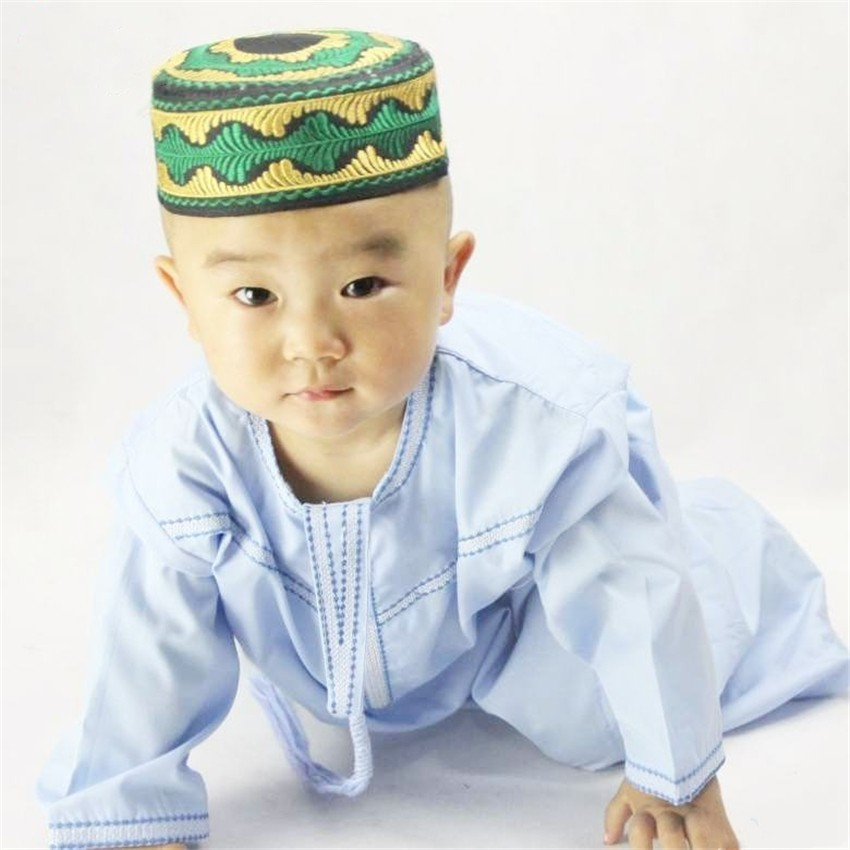 748eb4cb06ba6 Boys Islamic Clothing Kids Muslim Thobe Arab Abaya Robes for Baby Boy  Kaftan Islam Child Clothes Toddler 1-3 Years Ju