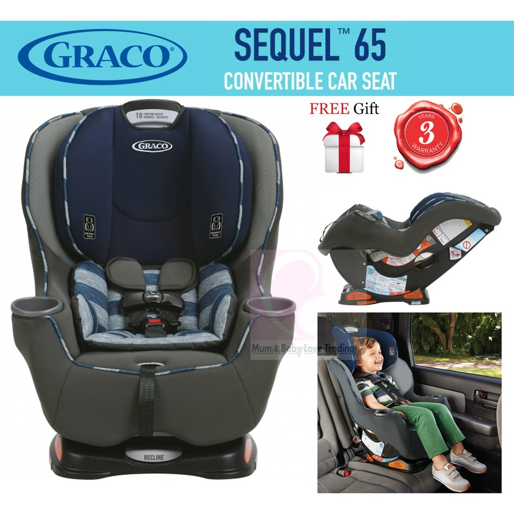 Graco Sequel 65 Convertible Car Seat From Newborn Till 29kg Free Gift