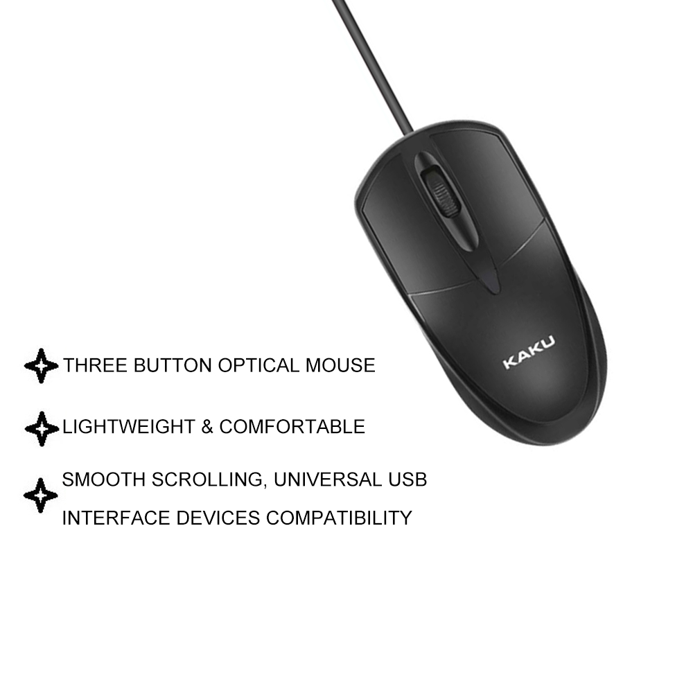 IKAKU KAKU YUANTU 1.2M Wired Optical Mouse Three Button High Sensitivity Pc Laptop Tablet Windows Android Compatibility