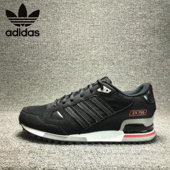 heiß Original Adidas ZX750 black low top Men casual sport