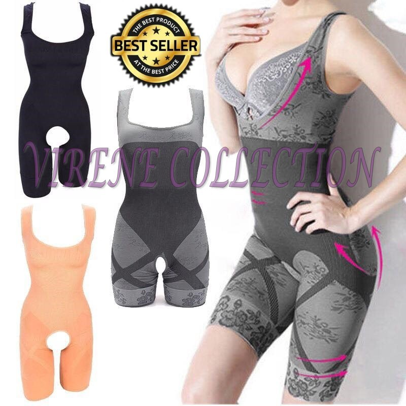 7fd342207a Natural Bamboo Charcoal Shapewear Slimming Suit Corset Push Up Firm ...