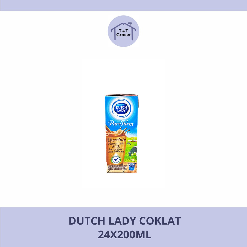 Dutch Lady 24x200ml (Coklat/ Full Krim/ Kopi/ Strawberri)