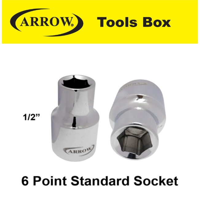 ARROW 6 1/2'' POINT STANDARD SOCKET EASY USE SAFETY GOOD QUALITY*1