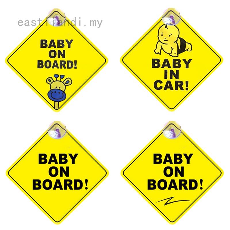 PRINCESS ON BOARD MOUSE Car Sign Car Sticker Baby Child Children Safety Kids