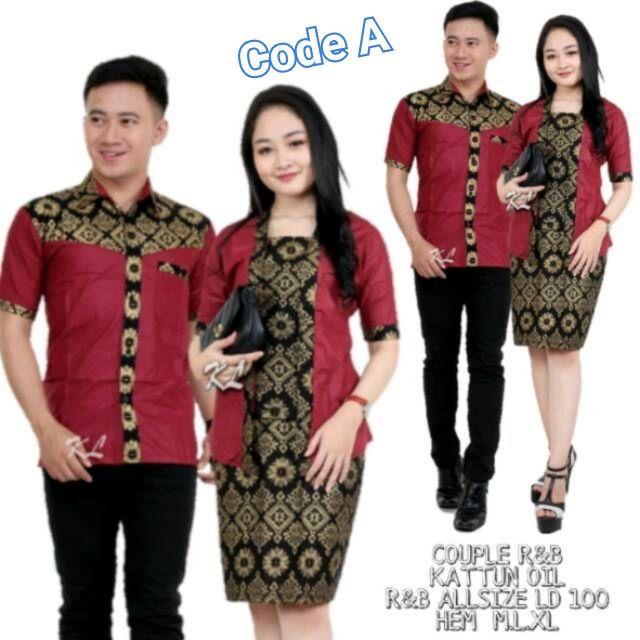 Set batik couple rnb kombinasi #1