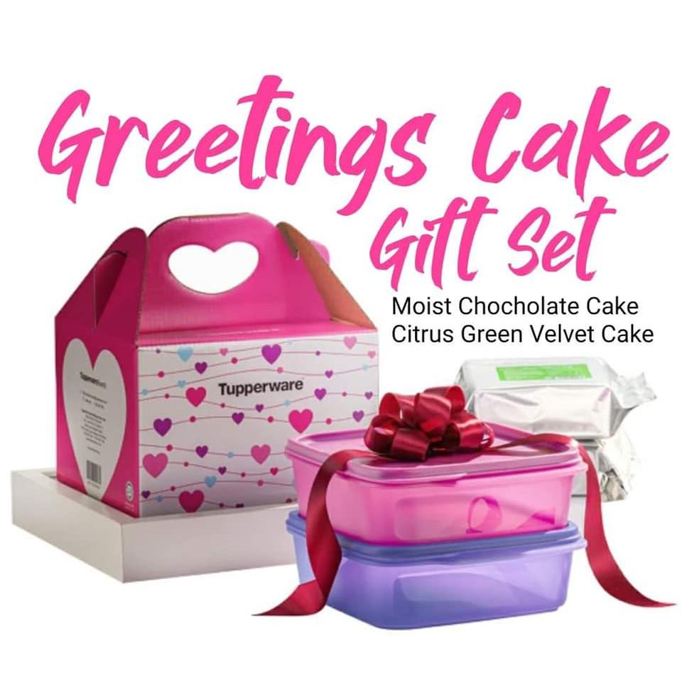Kek Tupperware bersama Bekas  - Gift 2 cakes + 2 set smart saver 1.1 Liter