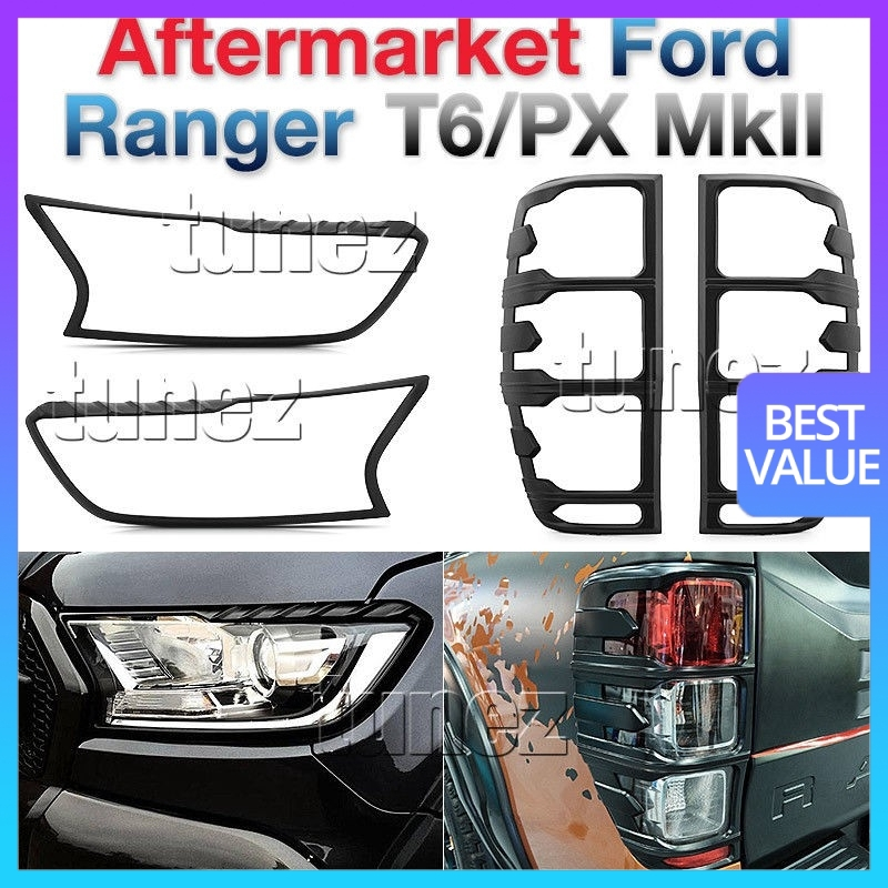 Ford Ranger T6 2016 Limited /& Wildtrak models MATTE BLACK Mirror Covers