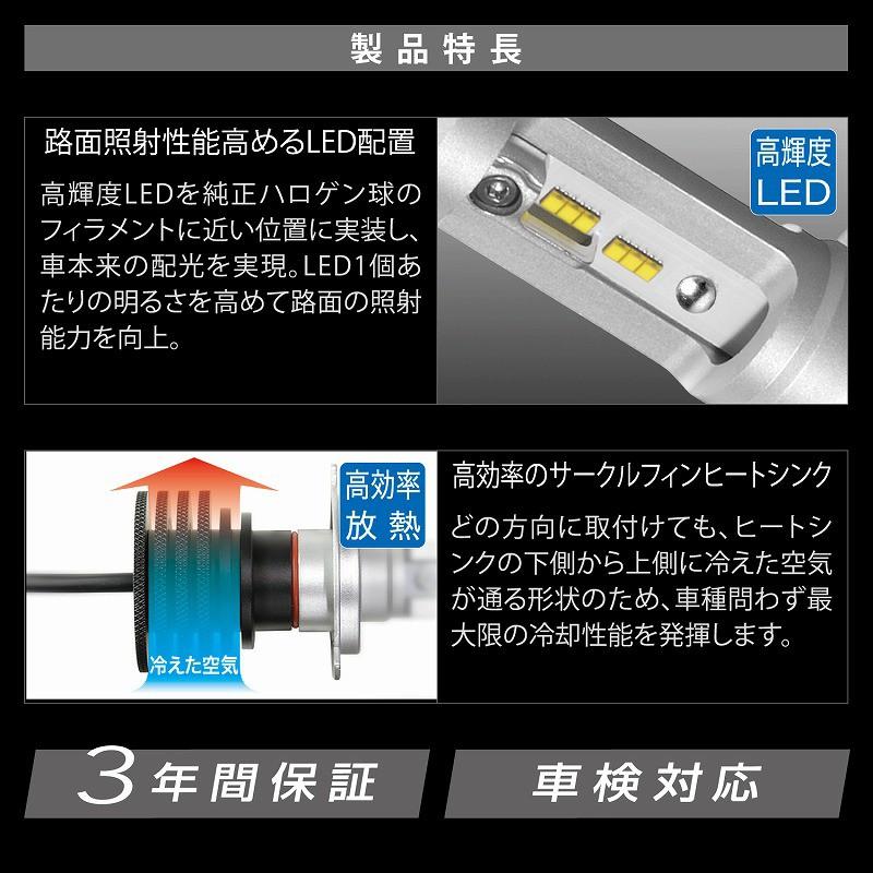 Carmate GIGA BW541 LED 6500K H4 Hi-Lo Type High Output Bulbs