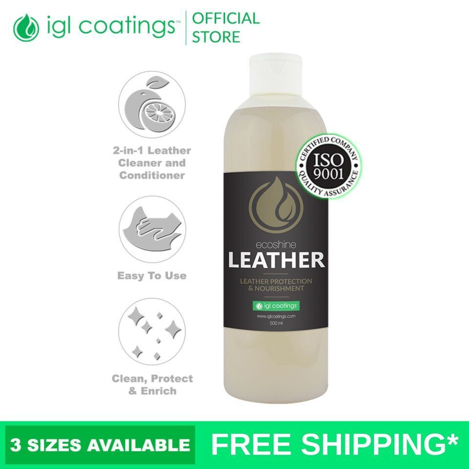 IGL Coatings Ecoshine Leather - Car Leather Seat 2-in-1 Cleaner & Conditioner (5L)