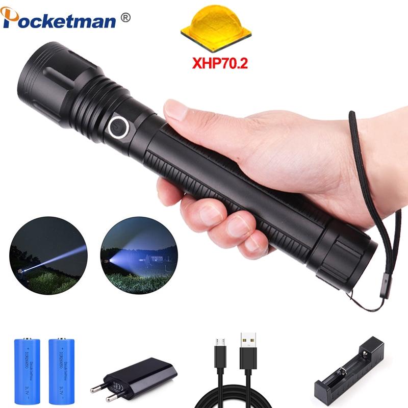 Chargeur US 90000LM-10000LM DEL Lampe de Poche Torche Zoomable lumière 18650 Batterie