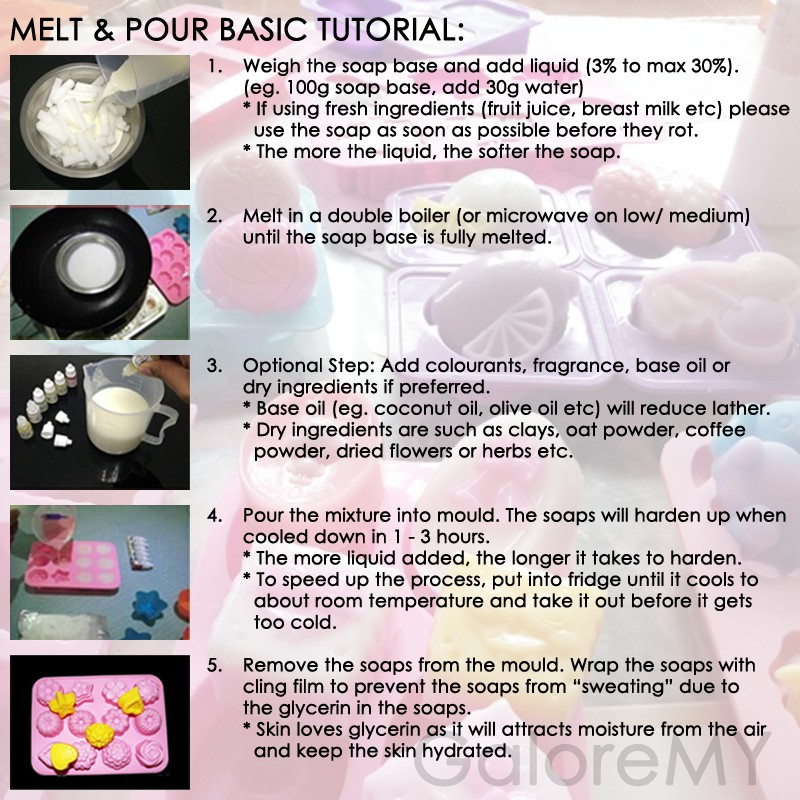 DIY Handmade Soap 500g Melt & Pour Soap Base | M&P Glycerin