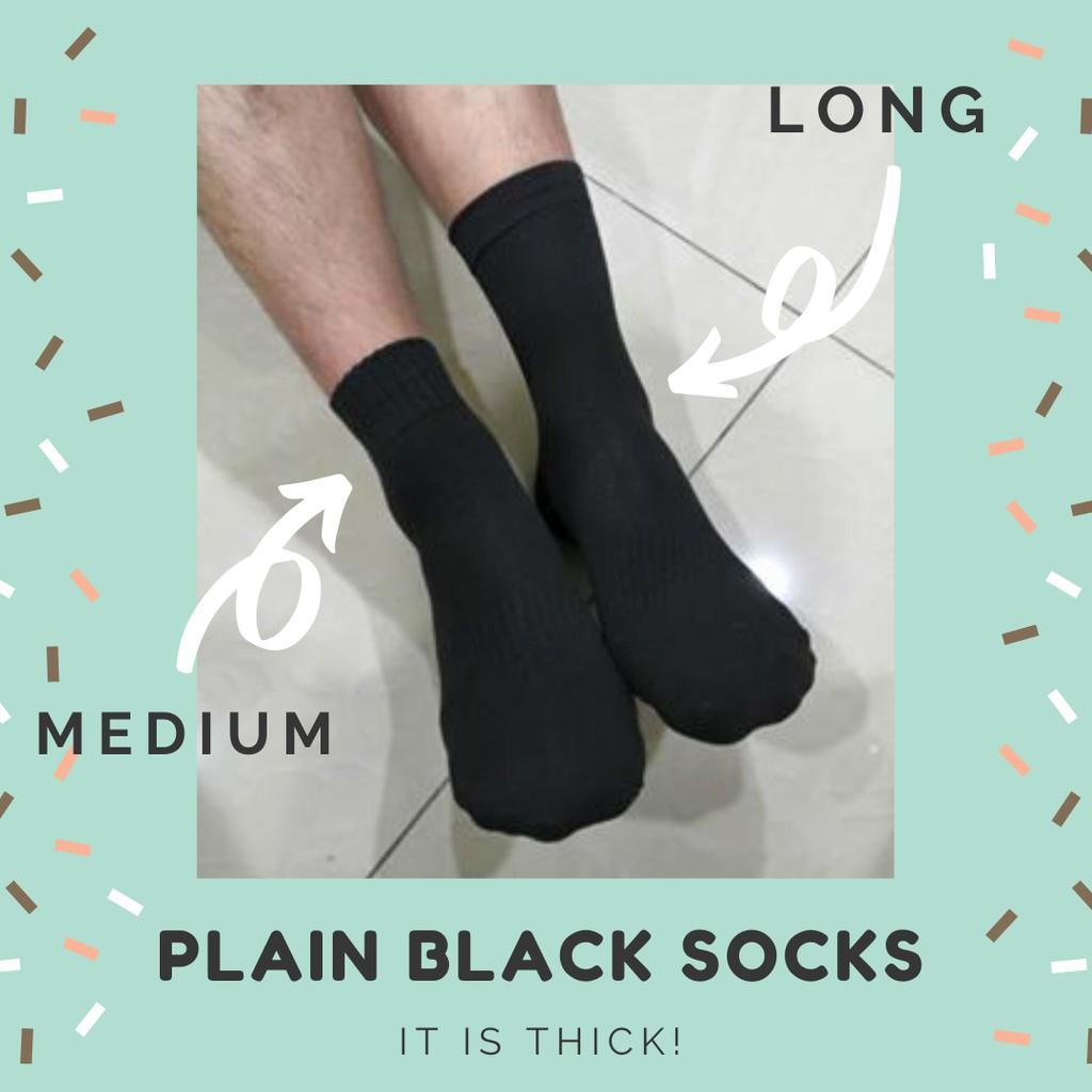 Black Socks Unisex Men Women Socks School Work Socks
