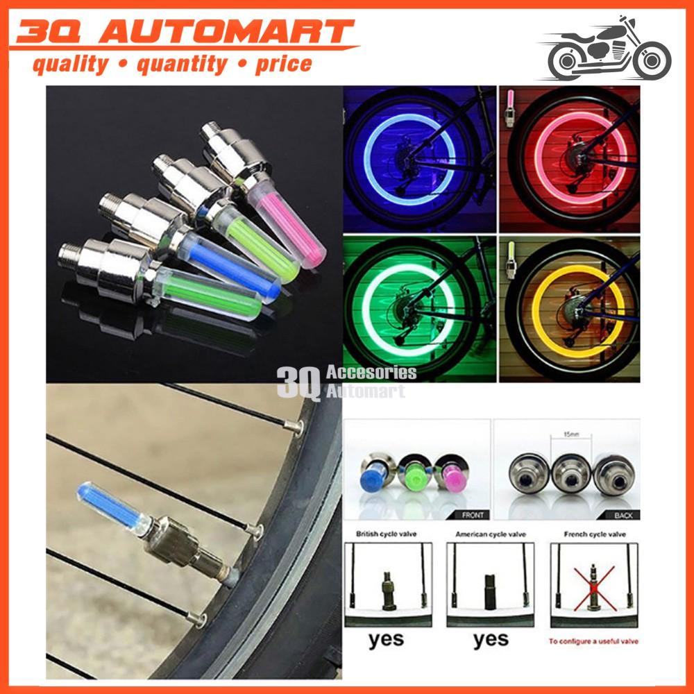Flash Bicycle Car Wheel Tire Tyre Valve Cap Neon Lamp LED Light Waterproof HP