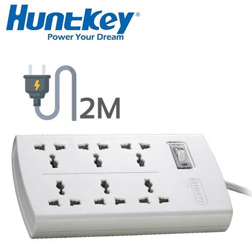 HUNTKEY SZM601 SZM-601 SZM 601 6 PLUGS POWER STRIP EXTENSION SOCKET CORD: 2.0M