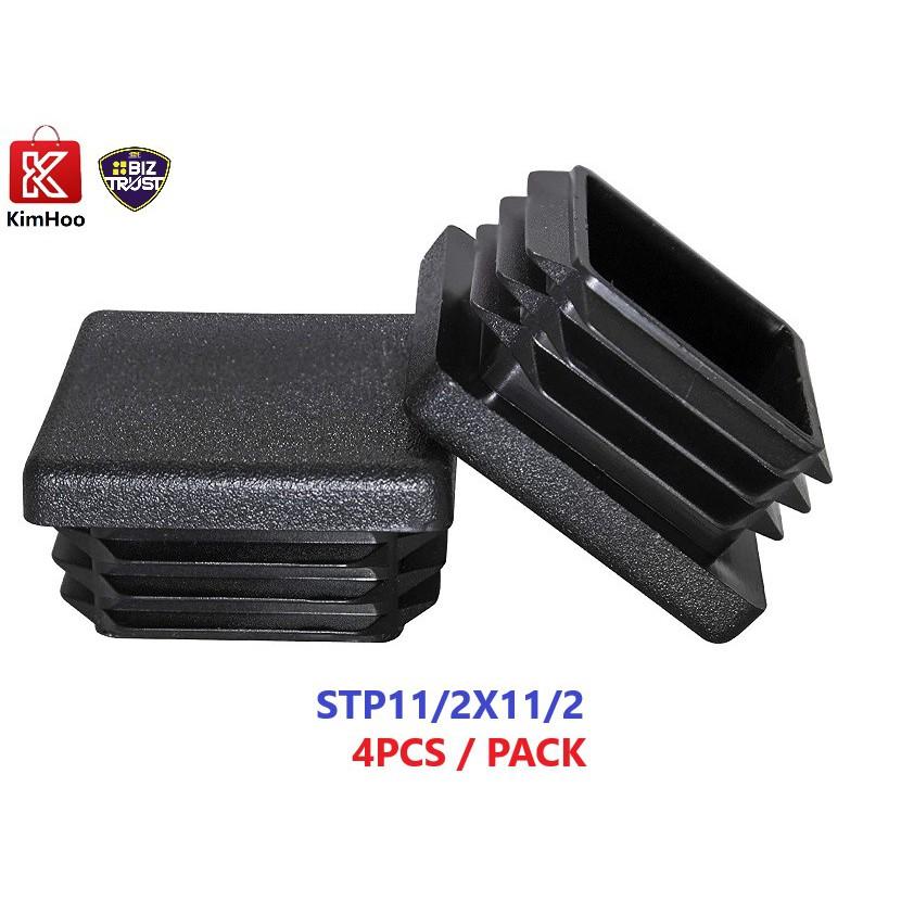 1-1/2 Inch Square Plastic Plug, Tubing Post End Cap, Chair Glide STP112X112