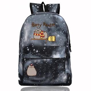 321134a5c pusheen Cat Canvas Backpack School Bag For Womens Mens Teens School ...