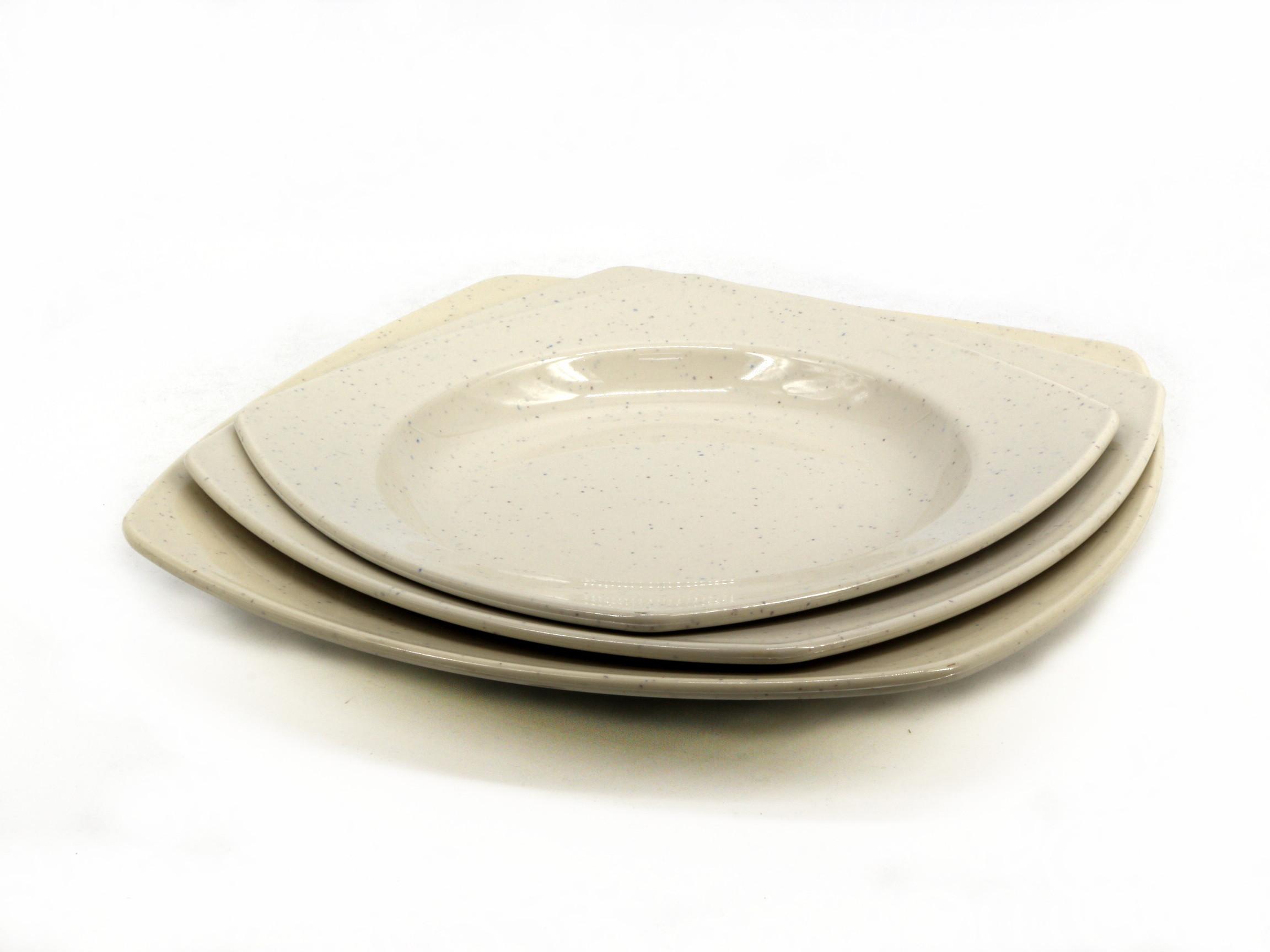 Toyogo dining plate set B  3 in 1 / piring set 3 dalam 1