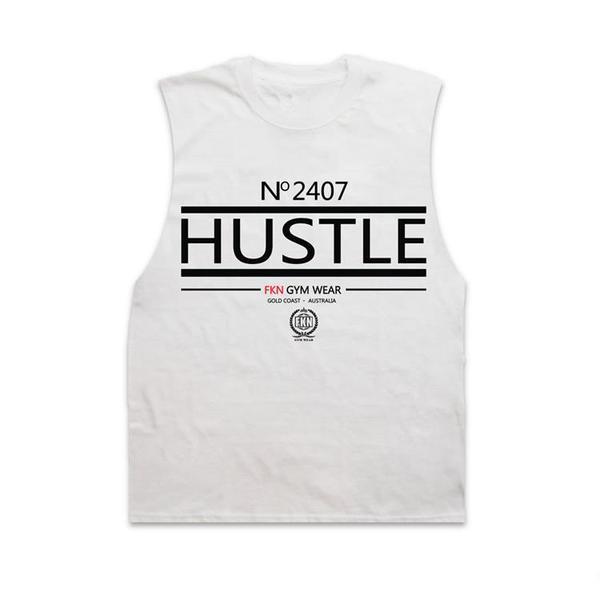 3ffc1e16d5835f Hustle Fkn Gym Wear Sleeveless Singlet Fitness High Quality