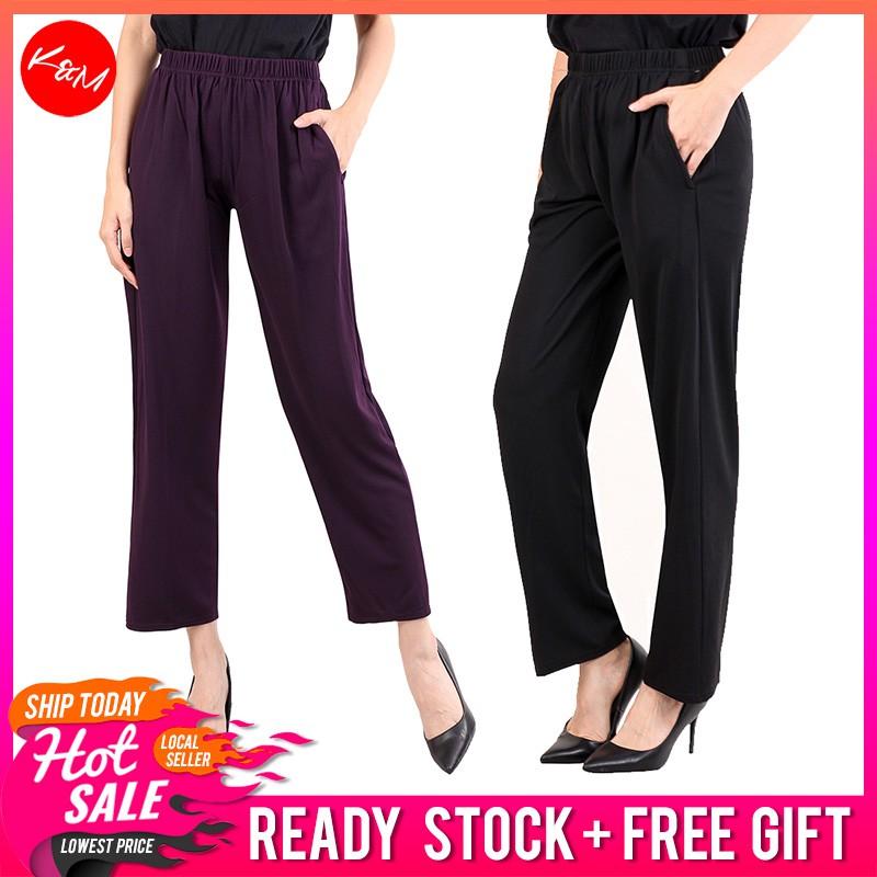 d58820fd68 KM Women Ultimate Comfort Plus Size Pants [M538]
