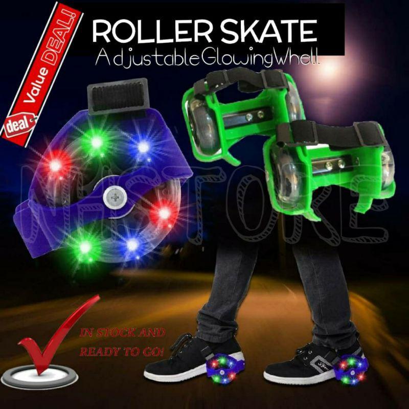 Roller Skate Shoe With Glowing Wheel Shoe Roller Shoe / Kasut Roda Glowing Budak >NHSTORE