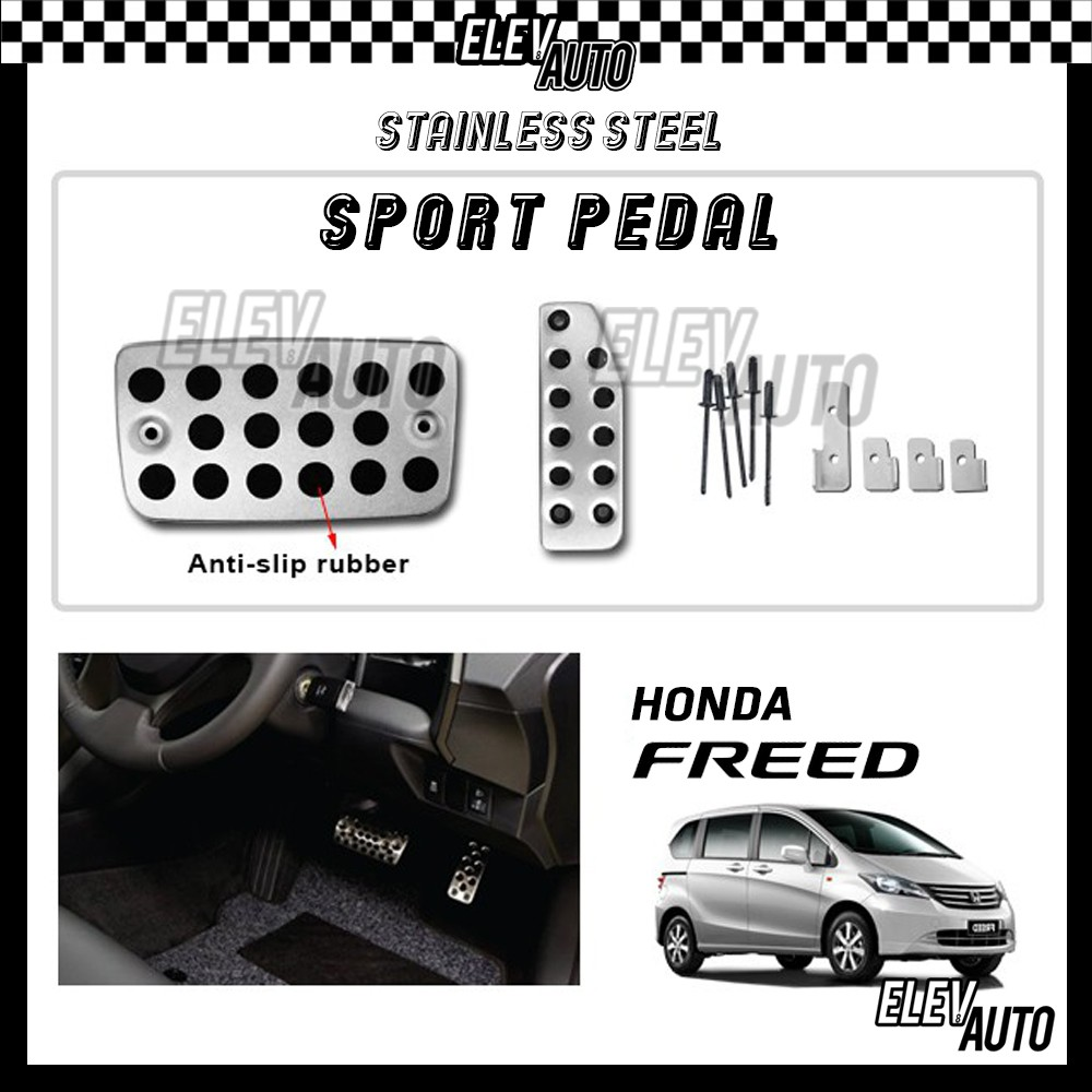 Honda Freed Stainless Steel Sport Pedal with Anti-slip Rubber
