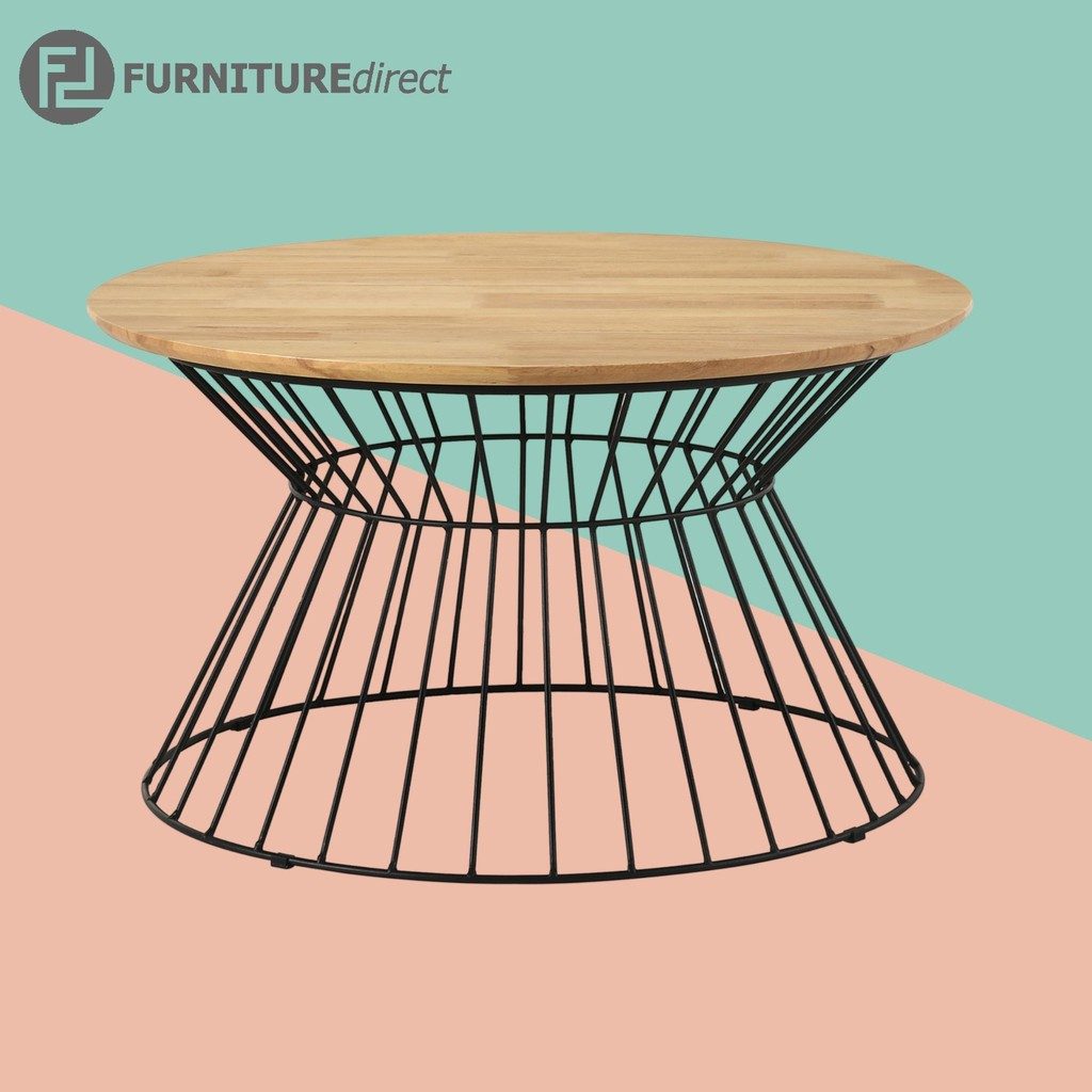 KEMY industrial style metal frame coffee table