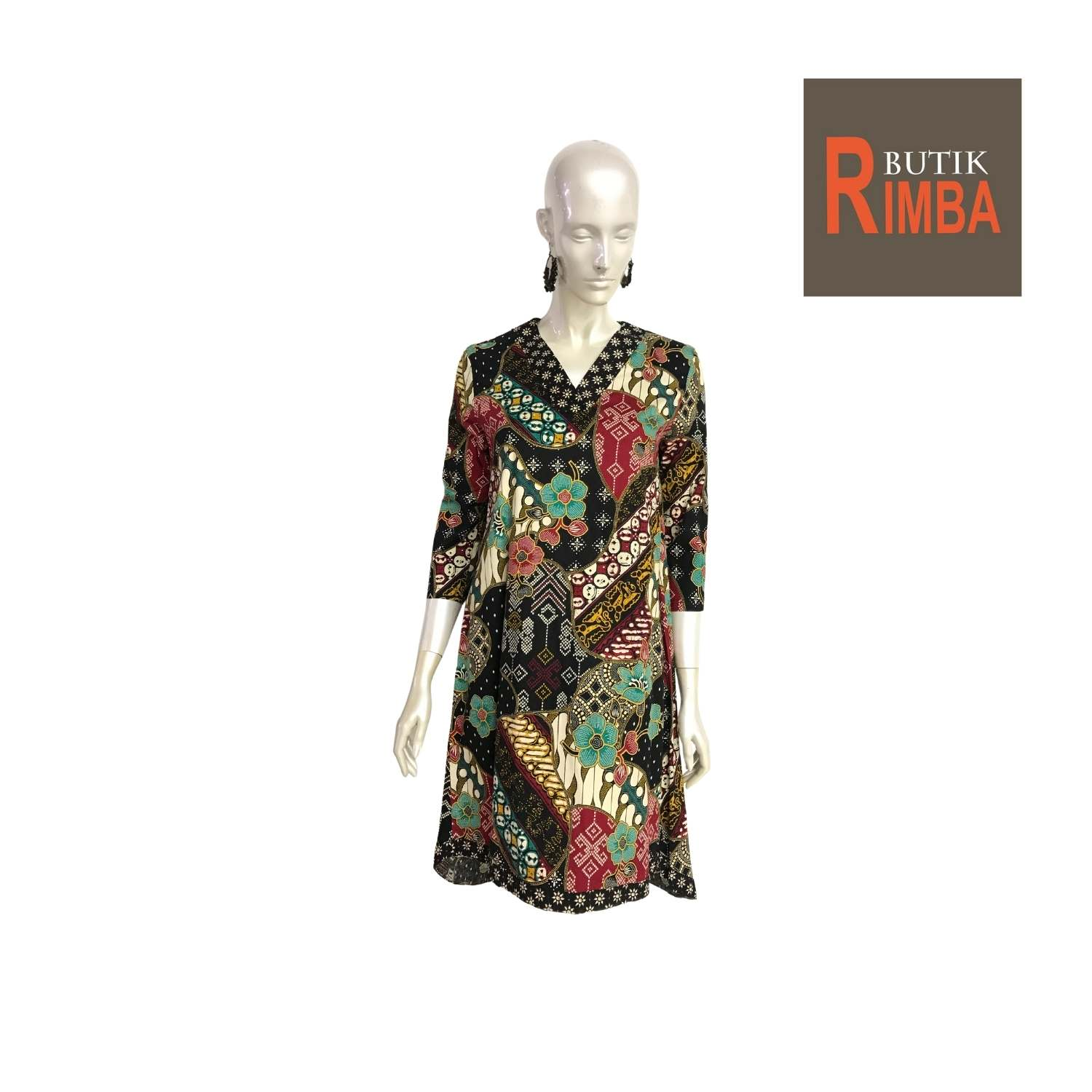 MODERN DRESS BATIK COTTON STRETCHABLE KNEE LENGTH FREE SIZE FOR FASHIONABLE WOMEN IN MIND 08