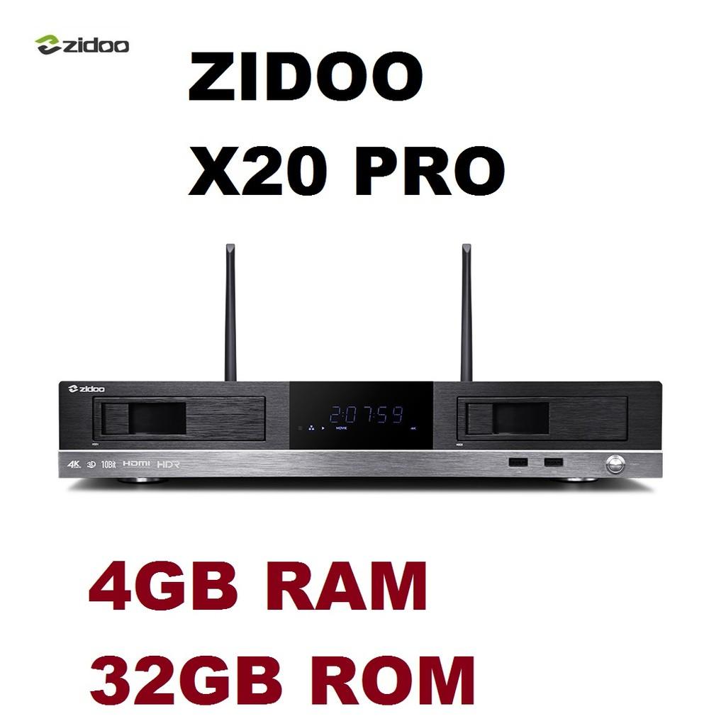 ZIDOO X20 PRO RTD 1296 Android TV Box 4K HDR Set Top Box 4G DDR4 RAM 32G  eMMC